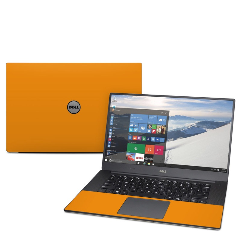 Dell XPS 15 9560 Skin design of Orange, Yellow, Brown, Text, Amber, Font, Peach with orange colors