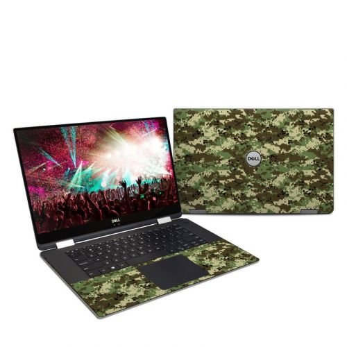 Digital Woodland Camo Dell XPS 15 2-in-1 9575 Skin