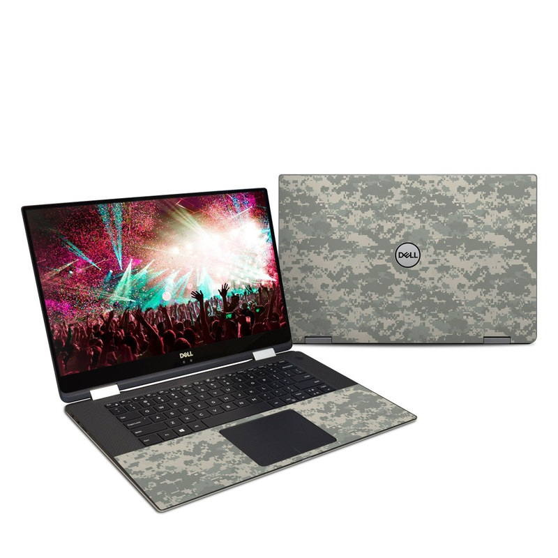 Dell XPS 15 9575 Skin design of Military camouflage, Green, Pattern, Uniform, Camouflage, Design, Wallpaper with gray, green colors
