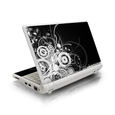 Asus Eee PC Skin design of Black, Monochrome, Black-and-white, Monochrome photography, Graphic design, Illustration, Design, Stock photography, Photography, Still life photography with black, gray, white colors