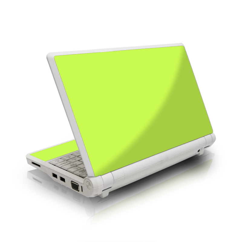 Asus Eee PC Skin design of Green, Yellow, Text, Leaf, Font, Grass with green colors