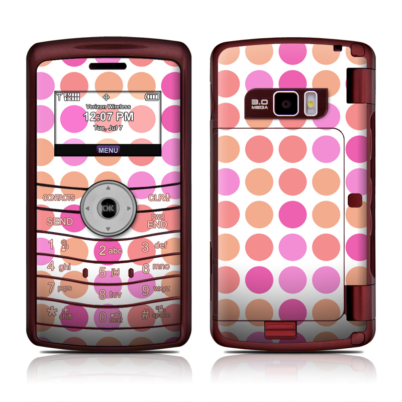 Big Dots Peach LG enV3 Skin