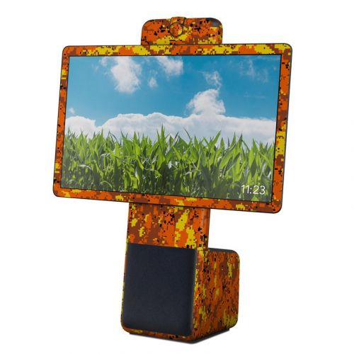 Digital Orange Camo Facebook Portal Plus Skin