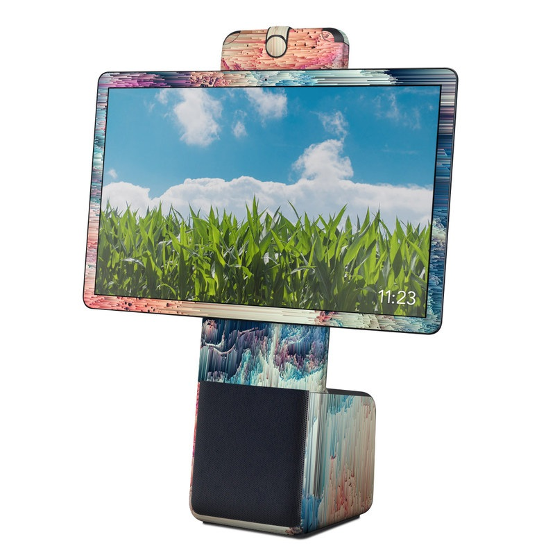 Facebook Portal Plus Skin design of Blue, Pink, Sky, Turquoise, Design, Rock, Textile, Photography, Cloud, Winter with white, blue, purple, pink, red colors
