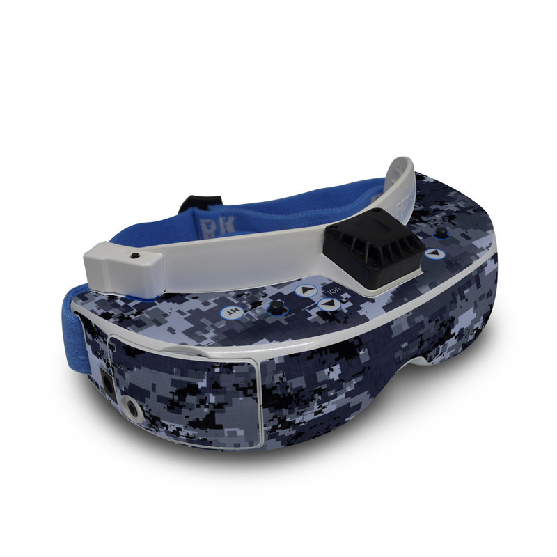 Digital Navy Camo Fat Shark Dominator V3 Skin