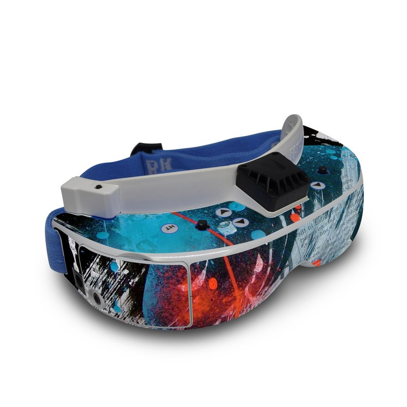 Fat Shark Dominator V3 Skin design of Graphic design, Illustration, Graphics, Design, Art, Space, World with black, gray, blue, red colors