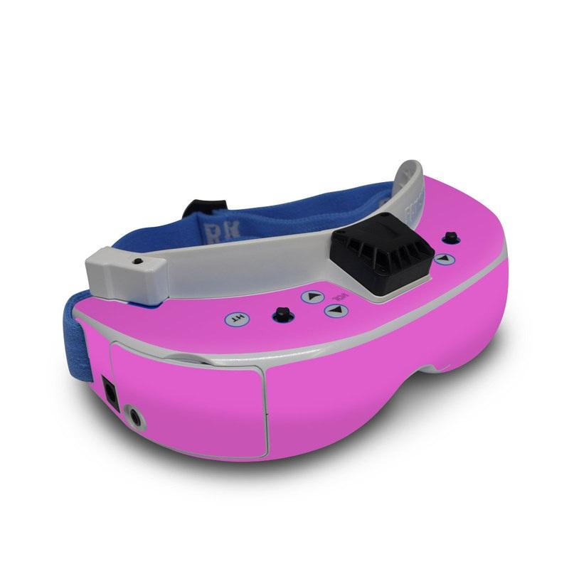 Fat Shark Dominator V3 Skin design of Violet, Pink, Purple, Red, Lilac, Magenta, Blue, Lavender, Text, Sky with pink colors