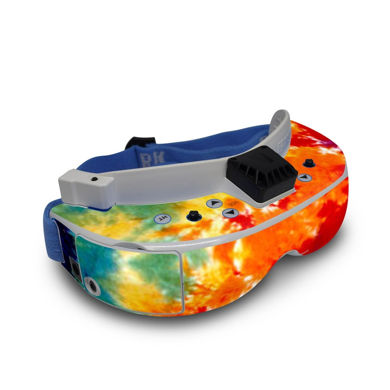 Fat Shark Dominator V3 Skin design of Orange, Watercolor paint, Sky, Dye, Acrylic paint, Colorfulness, Geological phenomenon, Art, Painting, Organism with red, orange, blue, green, yellow, purple colors
