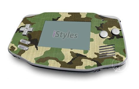Woodland Camo Game Boy Advance Skin