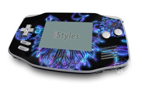 Blue Virii Game Boy Advance Skin