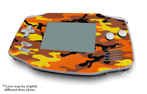Orange Camo Game Boy Advance Skin