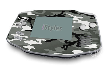 Game Boy Advance Skin design of Military camouflage, Pattern, Clothing, Camouflage, Uniform, Design, Textile with black, gray colors