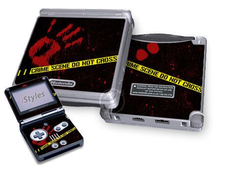 Crime Scene Game Boy Advance SP Skin