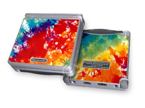 Tie Dyed Game Boy Advance SP Skin