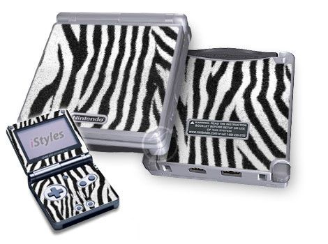 Zebra Stripes Game Boy Advance SP Skin