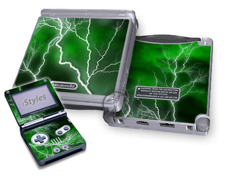 Apocalypse Green Game Boy Advance SP Skin