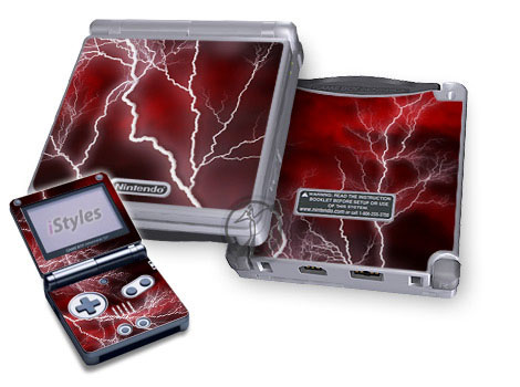 Apocalypse Red Game Boy Advance SP Skin