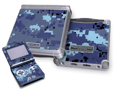 Digital Sky Camo Game Boy Advance SP Skin