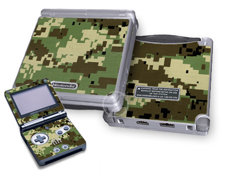Digital Woodland Camo Game Boy Advance SP Skin