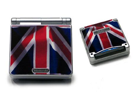 UK Flag Game Boy Advance SP Skin