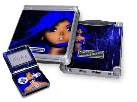 Ghost In The GBA Blue Game Boy Advance SP Skin