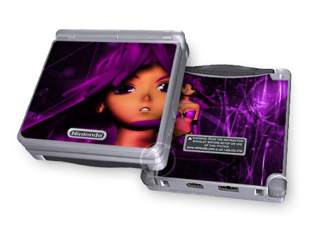 Ghost In The GBA Violet Game Boy Advance SP Skin