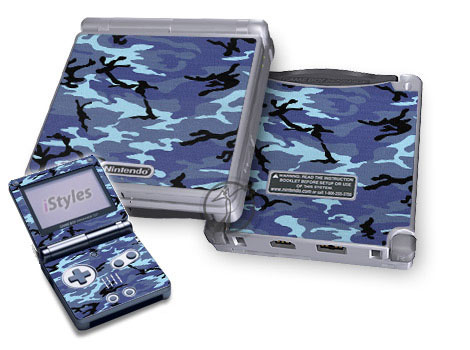 Sky Camo Game Boy Advance SP Skin