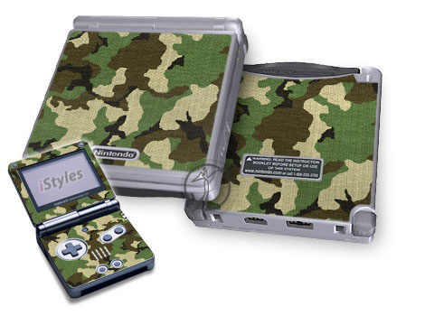 Woodland Camo Game Boy Advance SP Skin
