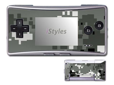 Digital Urban Camo Game Boy Micro Skin