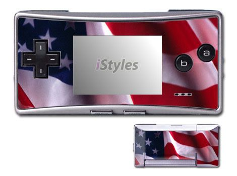 Patriotic Game Boy Micro Skin