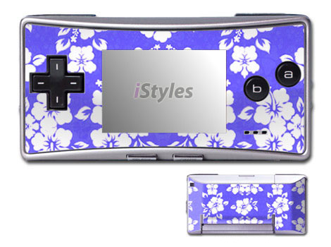 Aloha Blue Game Boy Micro Skin