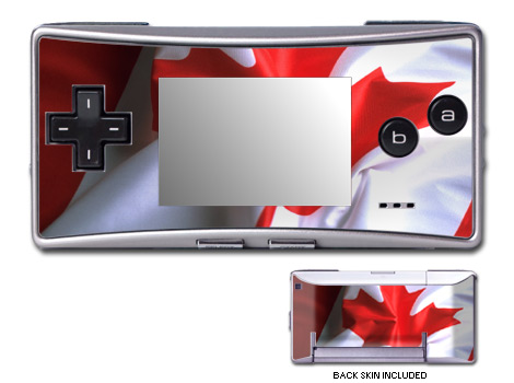 Canadian Flag Game Boy Micro Skin