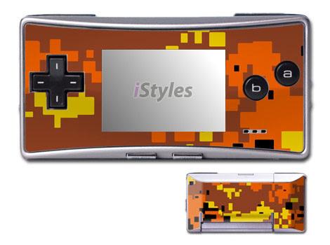 Digital Orange Camo Game Boy Micro Skin