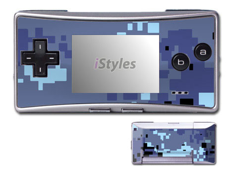 Digital Sky Camo Game Boy Micro Skin