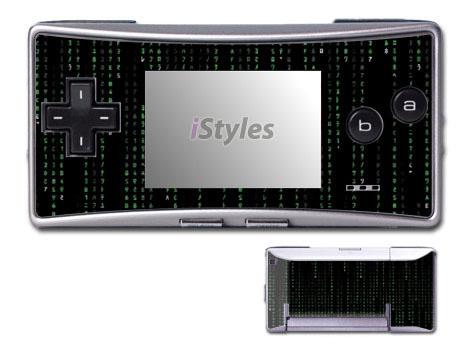 Matrix Style Code Game Boy Micro Skin