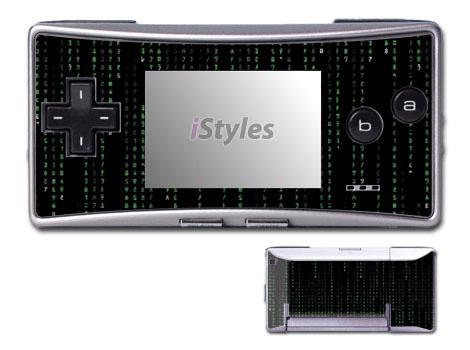 Matrix Style Code Game Boy Micro Skin