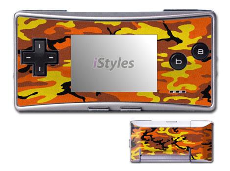 Orange Camo Game Boy Micro Skin