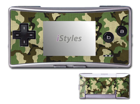 Game Boy Micro Skin design of Military camouflage, Camouflage, Clothing, Pattern, Green, Uniform, Military uniform, Design, Sportswear, Plane with black, gray, green colors