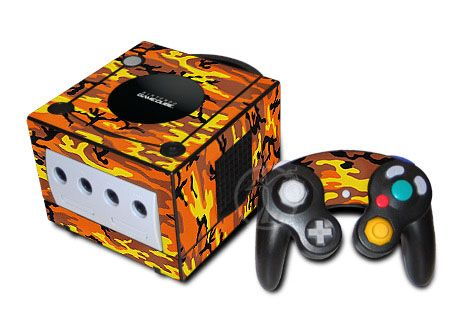 Orange Camo GameCube Skin