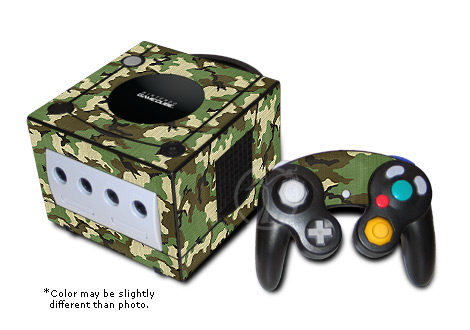 Woodland Camo GameCube Skin