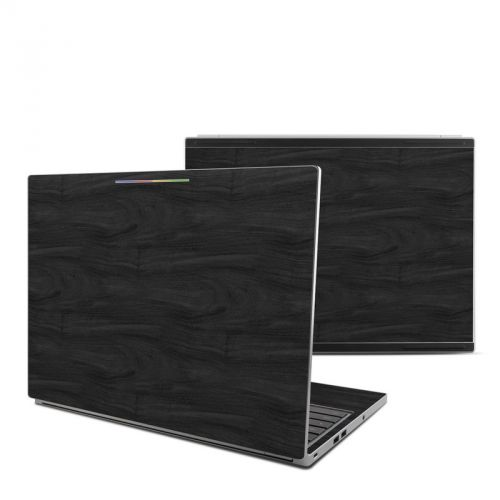 Black Woodgrain Chromebook Pixel Skin