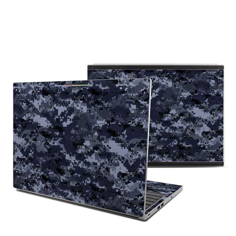Digital Navy Camo Chromebook Pixel Skin