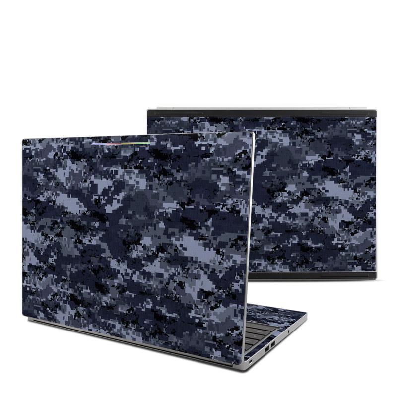 Digital Navy Camo Chromebook Pixel Skin