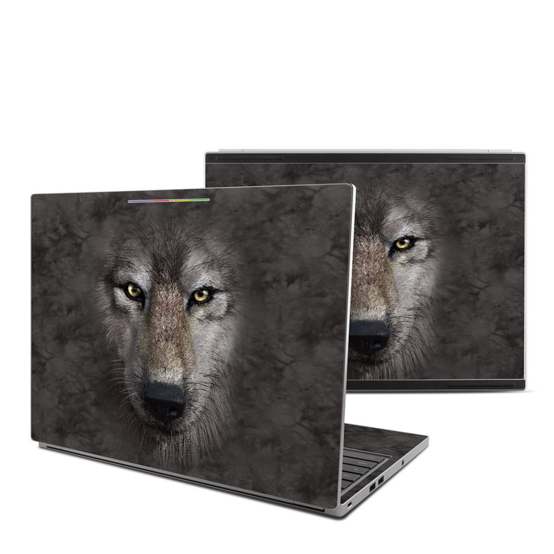 Grey Wolf Chromebook Pixel Skin