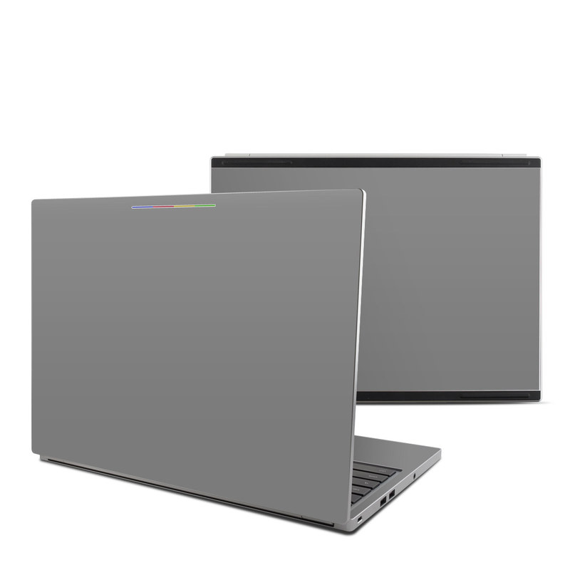 Solid State Grey Chromebook Pixel Skin