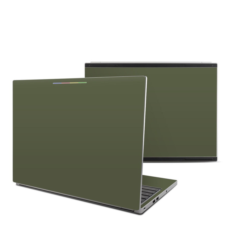 Chromebook Pixel Skin design of Green, Brown, Text, Yellow, Grass, Font, Pattern, Beige with green colors