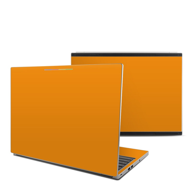 Solid State Orange Chromebook Pixel Skin