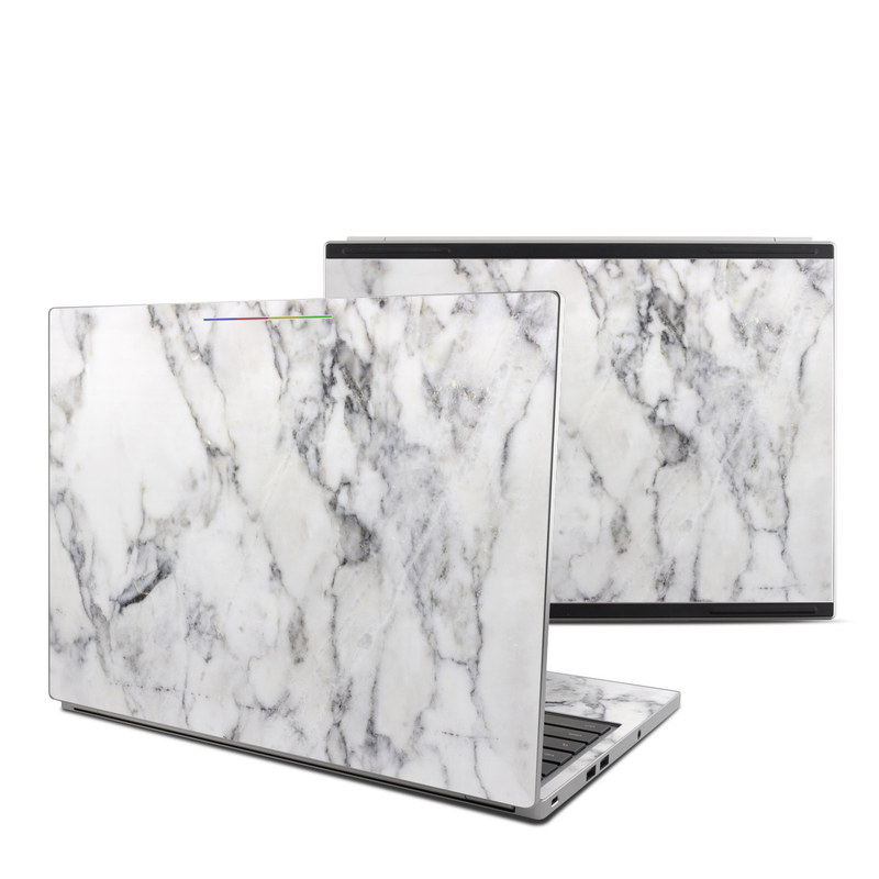 Chromebook Pixel Skin design of White, Geological phenomenon, Marble, Black-and-white, Freezing with white, black, gray colors