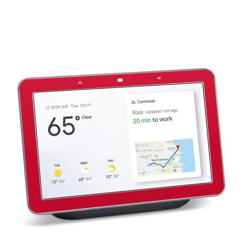Solid State Red Google Home Hub Skin