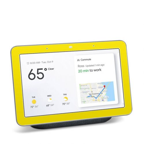 Solid State Yellow Google Home Hub Skin